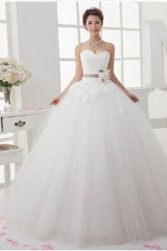 New White/Ivory sweetheart sleeveless Wedding Dress Bridal Gown Custom Size 4-6-8-10-12-14-16++
