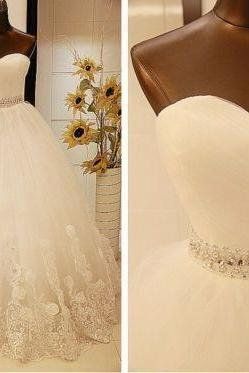 New White Ivory lace Wedding Dress Bridal Ball Gown Custom Size 4 6 8 10 12 14 16 18